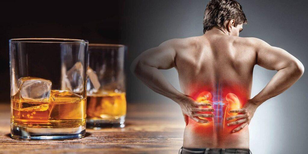 تاثیر الکل بر کلیه